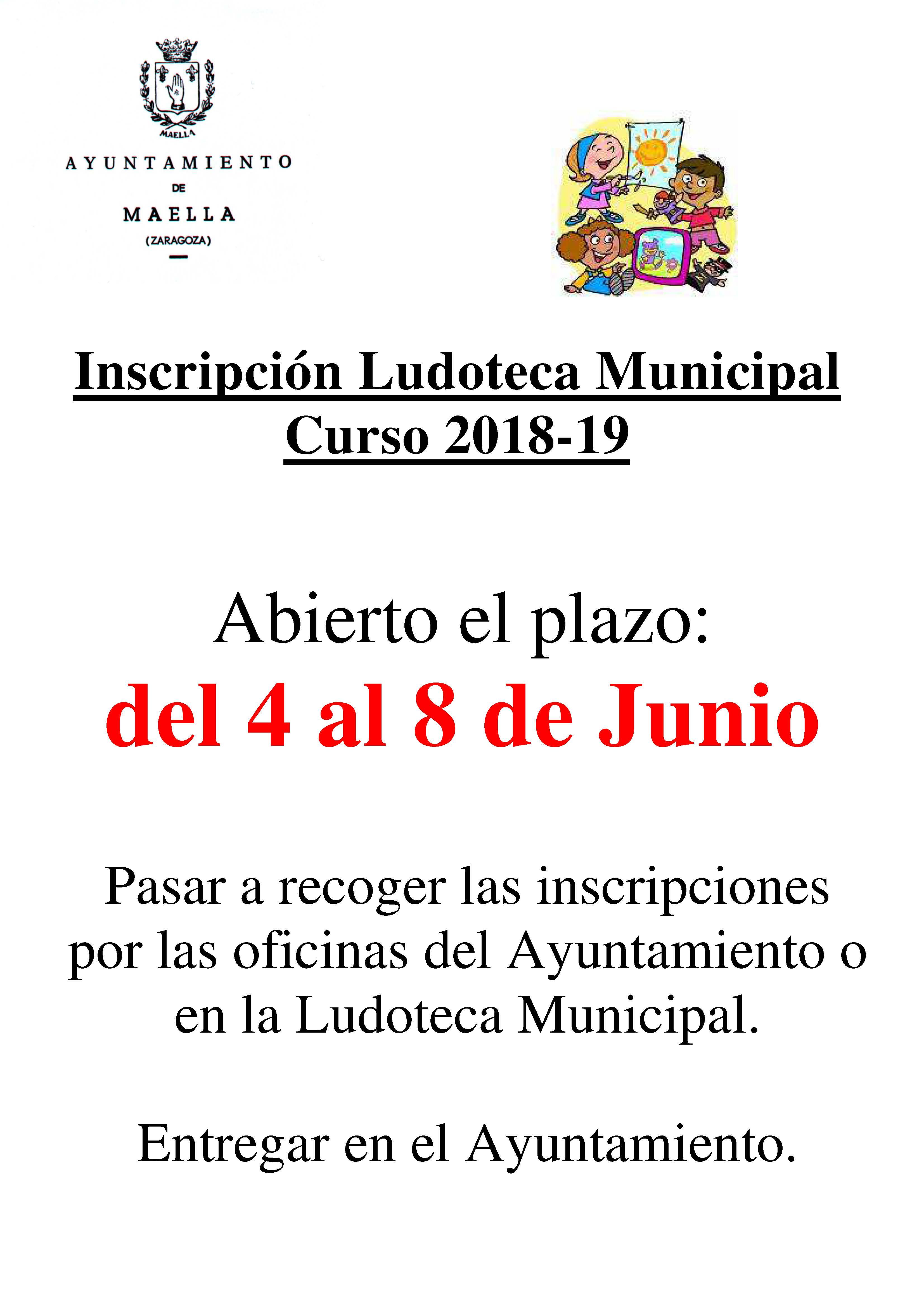 LUDOTECA MUNICIPAL 2018-19