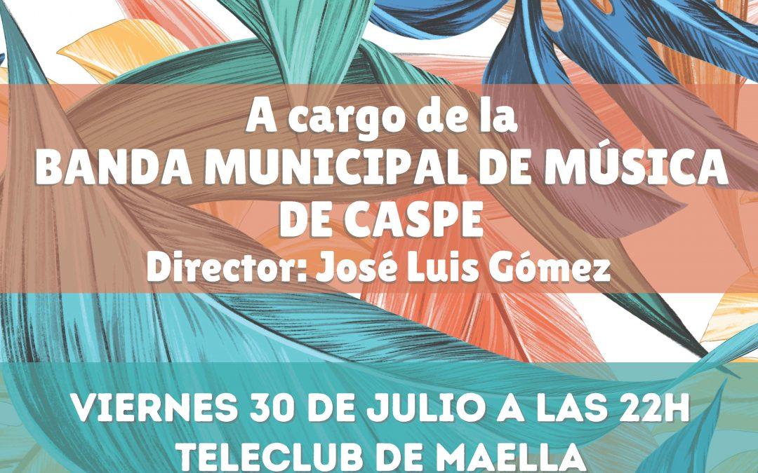 CONCIERTO DE VERANO BANDA MUNICIPAL MÚSICA  DE CASPE